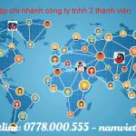 Thành lập chi nhánh công ty TNHH 2 thành viên