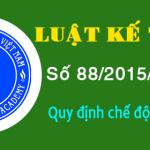 Luật Kế toán số 88/2015/QH13 ngày 20/11/2015