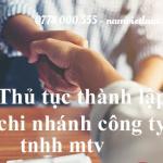 Thành lập chi nhánh công ty TNHH 1 thành viên