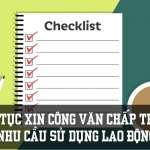 Hướng dẫn xin công văn chấp thuận nhu cầu sử dụng lao động nước ngoài